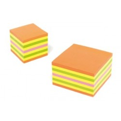 Notes Adeziv 75 x 75 mm Neon Spring Mixt 450 File Kores